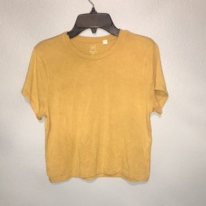 PacSun Basic Yellow Crop Tee